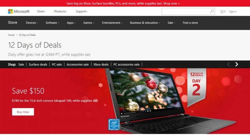 Microsoft-12-Days-of-Deals-D2-Lenovo-Ideapad-100