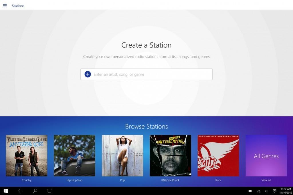 Pandora Radio Windows 10