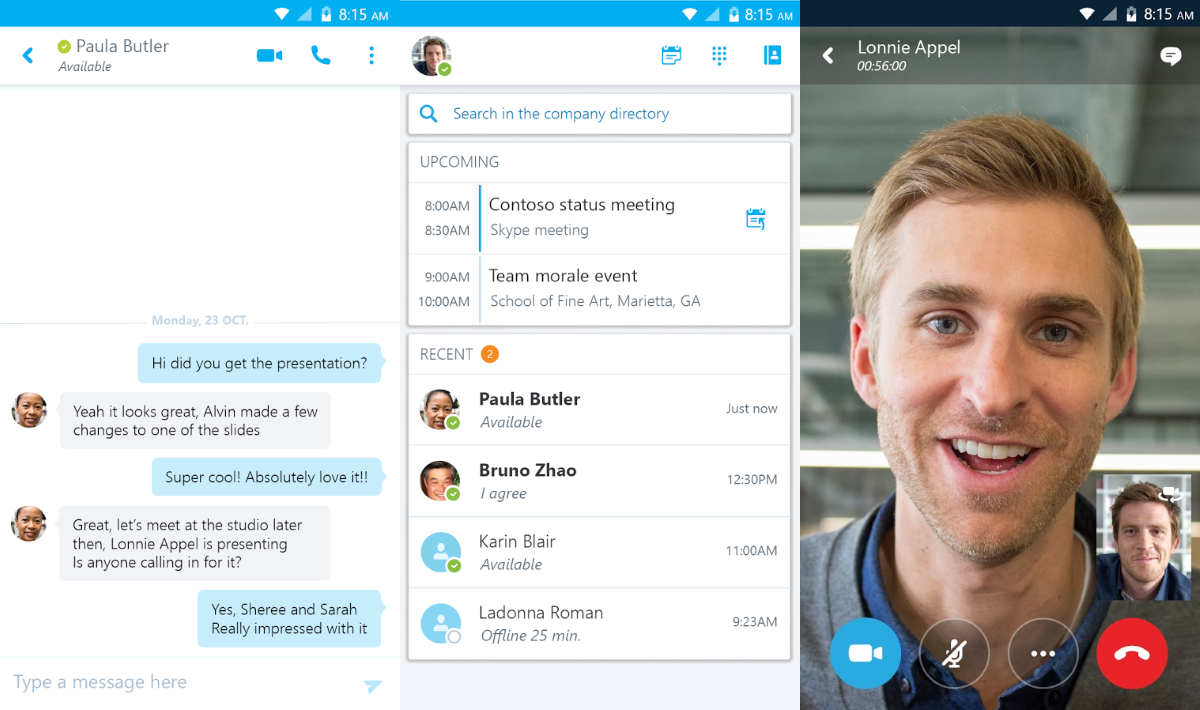Microsoft Releases Skype For Business For Android