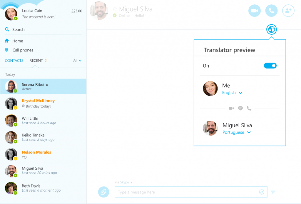Skype Translator Windows