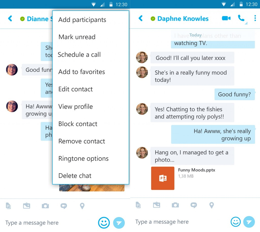 Skype for Android App